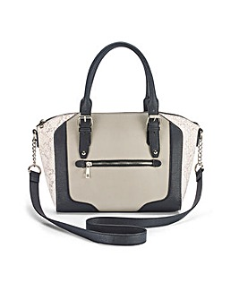 Emily Grey Snake Winged Tote Bag