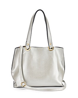 Mia Silver Shopper Bag