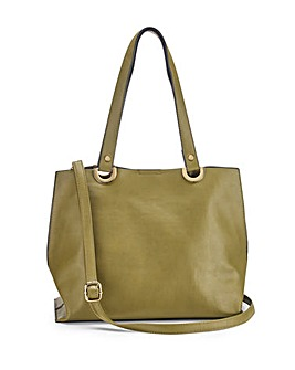 Mia Khaki Shopper Bag