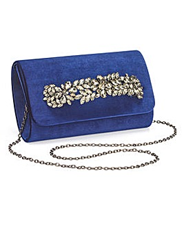 Joanna Hope Navy Velvet Clutch