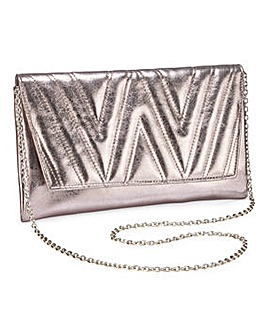 Joanna Hope Quilted Metallic Clutch