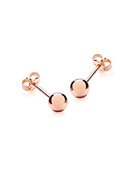 9Ct Gold 5mm Ball Stud Earrings