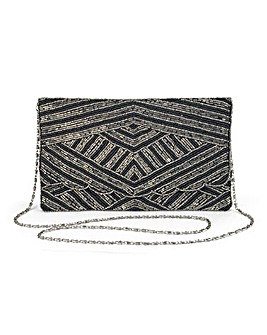 Sequin Embellished Clutch Bag