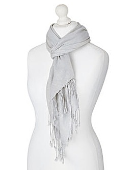 Pale Grey Sparkle Pashmina