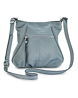 Denim Blue Slouch Across Body Bag