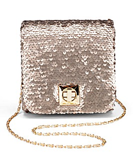 Bronze Mini Structured Shoulder Bag
