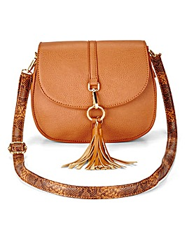 Saddle Bag With Snake Strap