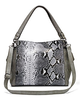Snake Slouch Tote Bag