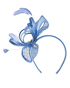 Headband Fascinator with Spotted Mesh