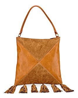 Shoulder Bag with Tassel Detail