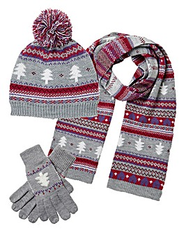 Fairisle Christmas Tree Set