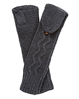 Knitted Long Arm Flip Mittens