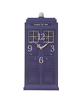 Novelty Police Box Shaped Picture Clock