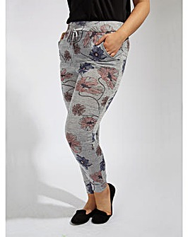 Koko Grey Floral Jersey Trousers