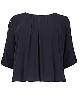 Samya Pleated Top with Bow Detail