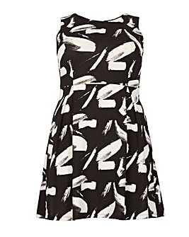 Samya Sleeveless Printed Skater Dress