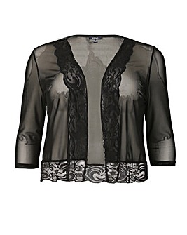 Samya Sheer Lace Trim Bolero