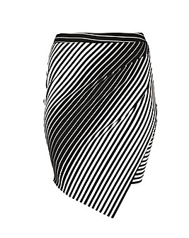 Samya Fitted Stripe Print Skirt.