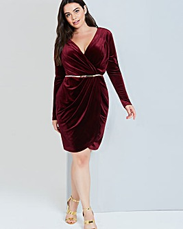 Girls On Film Burgundy Dress