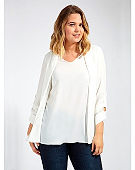 Lovedrobe GB Textured Ivory Blouse