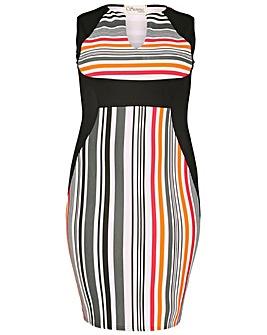 Sienna Couture Stripe Panel Dress