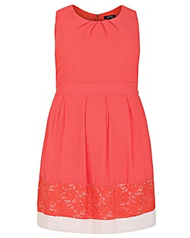 Samya Lace Hem Skater Dress