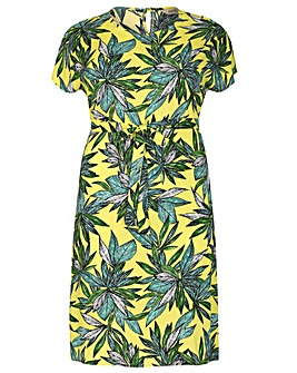 emily Tropical Split Dress
