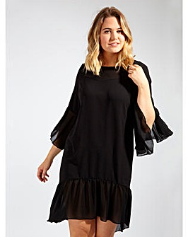 Lovedrobe GB Black Contrast Swing Dress
