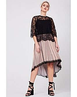 Elvi Premium Pleated Skirt in Shimmer