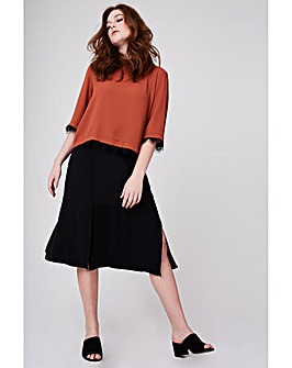 Elvi Midi Skirt With Slits