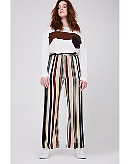 Elvi Striped Wide Leg Trousers