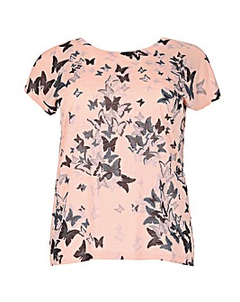 Samya Butterfly Print Top.
