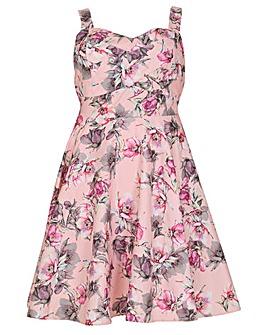 Samya Floral Print Cocktail Dress