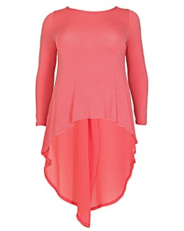 Feverfish Chiffon Tunic Dress