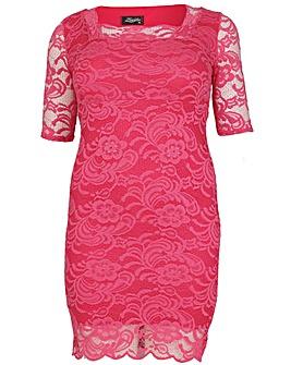 Feverfish Lace Scallop Dress