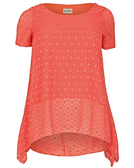 emily Burnout Tunic Top