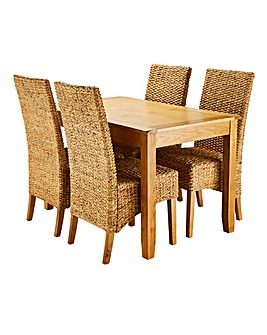 Dorset Dining Table and Four Bali Chairs