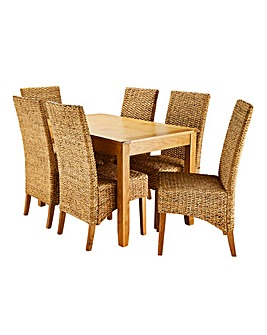 Dorset Dining Table and Six Bali Chairs
