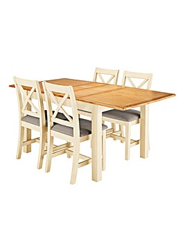 Harrogate Large Extending Table 4 Chairs