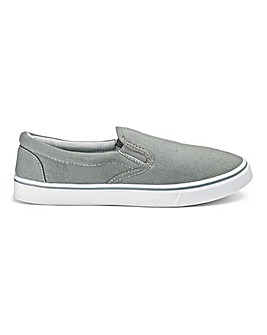 Basic Slip On Canvas Pumps