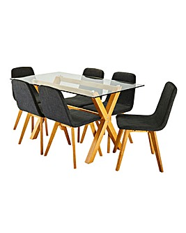 Albany Rectangular Table 6 Enzo Chairs