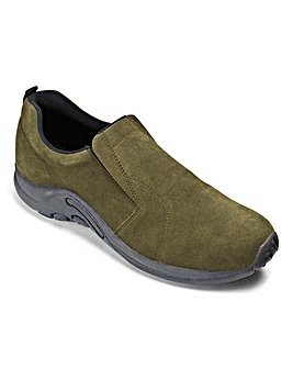 Trustyle Suede Slip On Shoe Ex Wide Fit