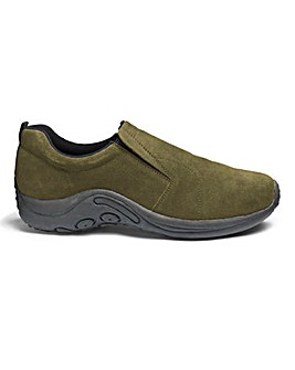 Suede Slip On Shoes Extra Wide Fit