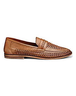 Leather Interweave Slip On Loafer
