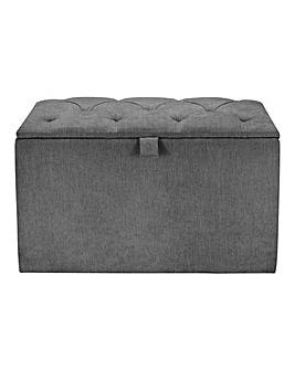 Gracie Buttoned Ottoman Box Paris Fabric