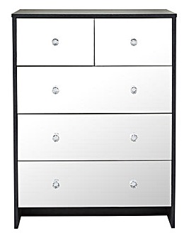 Dior Mirrored 3+2 Drawer Chest