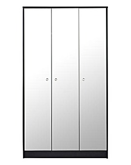 Dior Mirrored 3 Door Wardrobe