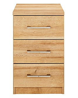 Riga 3 Drawer Bedside Table