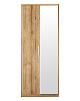 Riga 2 Door Wardrobe with Mirror