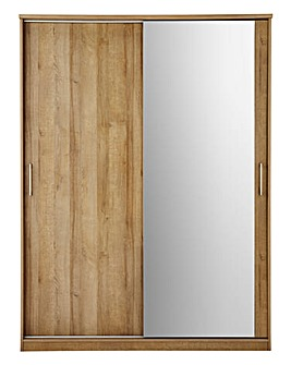 Riga 1.50m Sliding Robe with Mirror